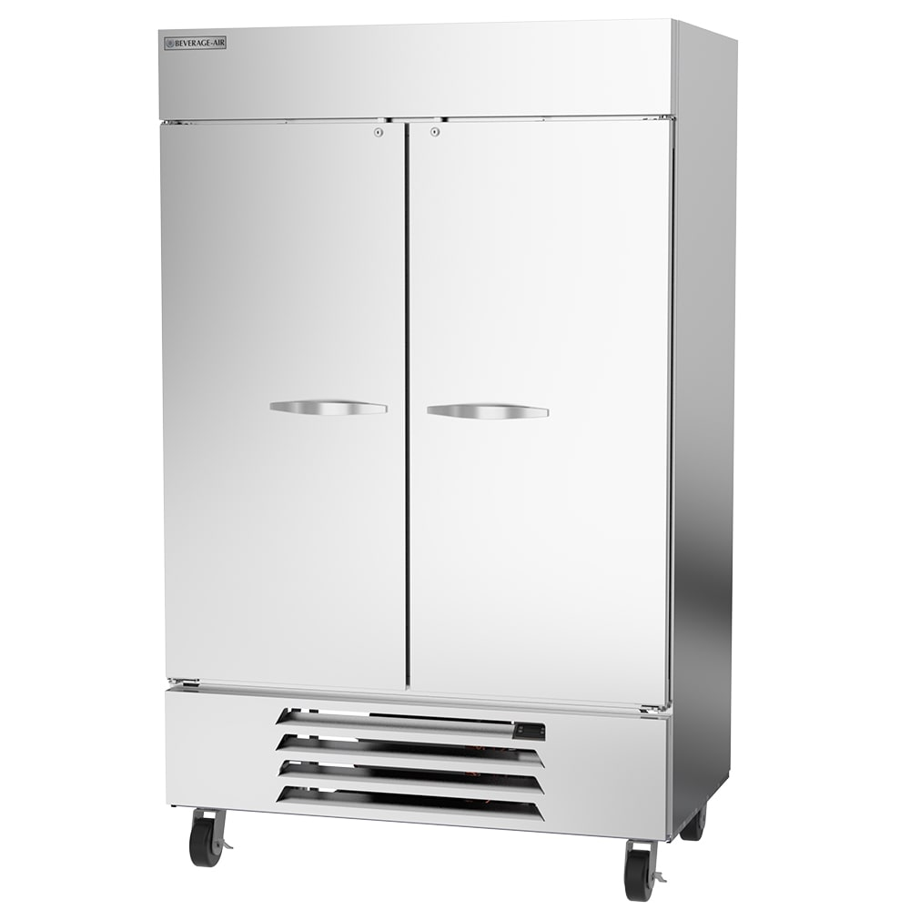 """Beverage Air HBF49HC-1-S 52"""" Two Section Reach In Freezer, (2) Solid Doors, 115v"""