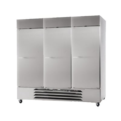 """Beverage Air HBF72-1-S 75"""" Three Section Reach-In Freezer, (3) Solid Doors, 115v"""