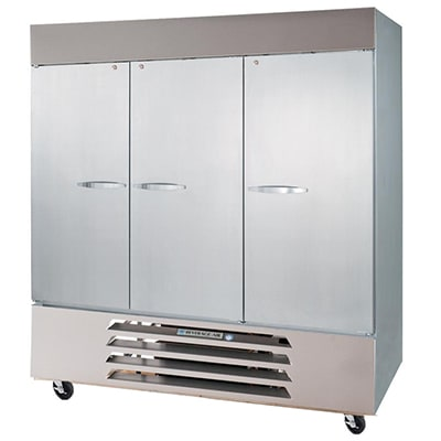 """Beverage Air HBF72-5-G 75"""" Three Section Reach-In Freezer, (1) Solid Door, (2) Glass Doors, 208v/1ph"""