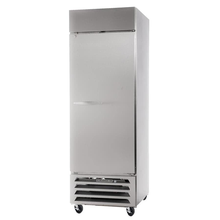 "Beverage Air HBR12-1-SW 24"" Single Section Reach-In Refrigerator, (1) Solid Door, 115v"