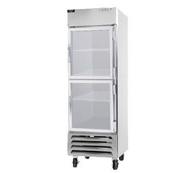 "Beverage Air HBR23-1-HG 28"" Single Section Reach-In Refrigerator, (2) Glass Door, 115v"