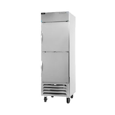"""Beverage Air HBR23-1-HS 28"""" Single Section Reach-In Refrigerator, (2) Solid Door, 115v"""