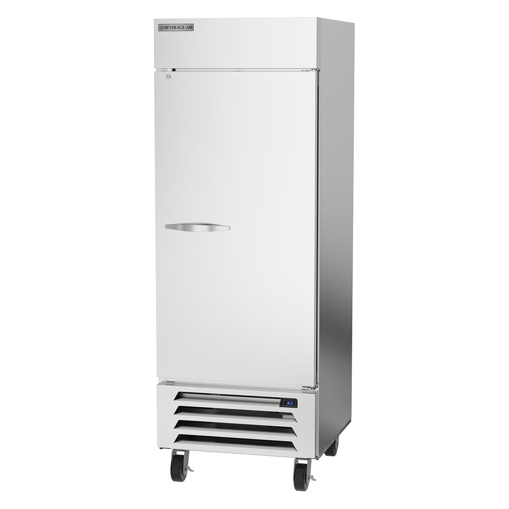 "Beverage Air HBR27HC-1 30"" Single Section Reach-In Refrigerator, (1) Solid Door, 115v"