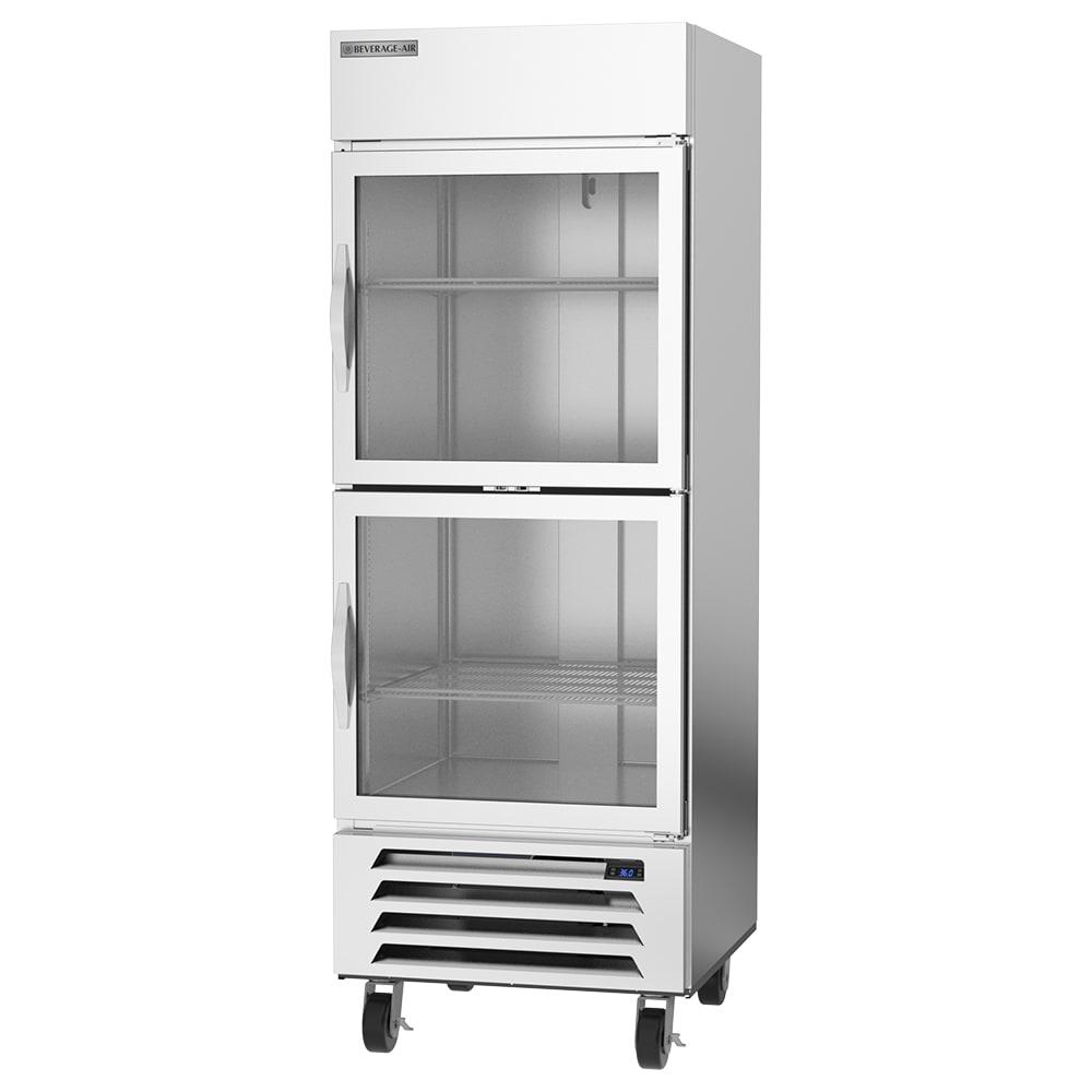 "Beverage Air HBR27HC-1-HG 30"" Single Section Reach-In Refrigerator, (1) Glass Door, 115v"