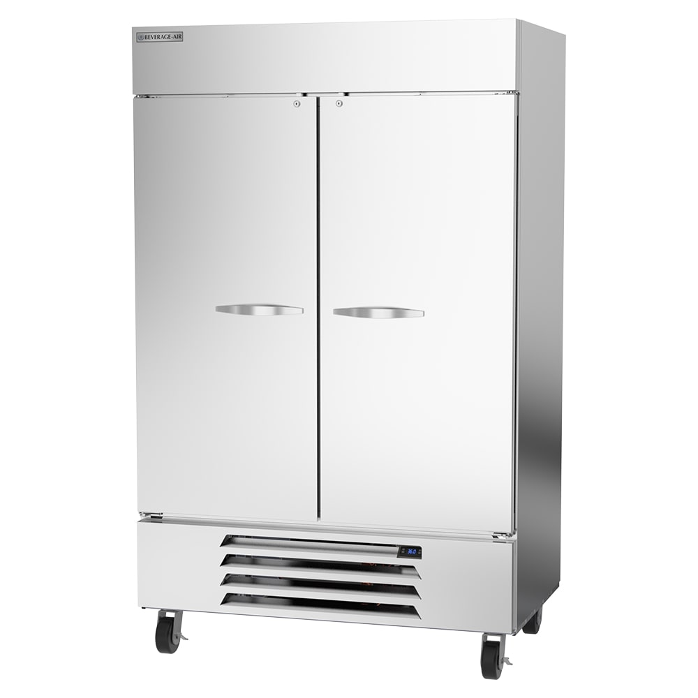 """Beverage Air HBR49HC-1 52"""" Two Section Reach-In Refrigerator, (2) Solid Door, 115v"""