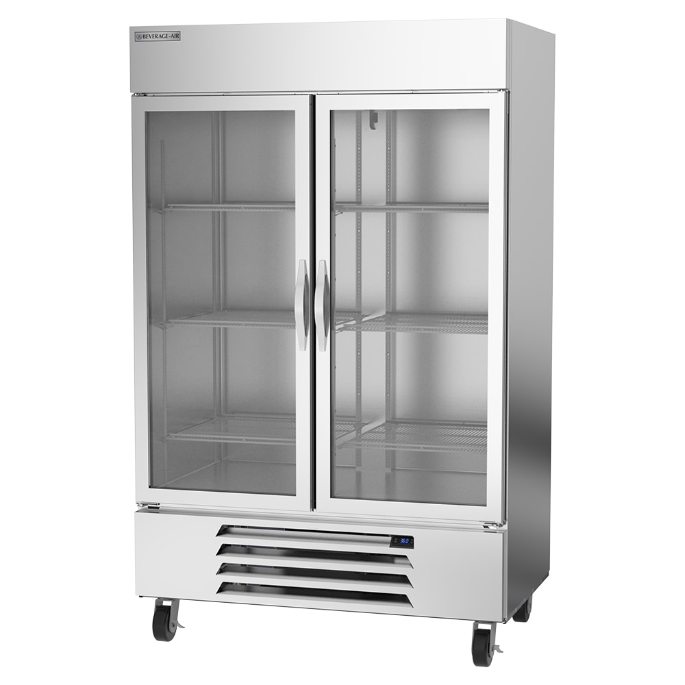 "Beverage Air HBR49HC-1-G 52"" Two Section Reach-In Refrigerator, (2) Glass Door, 115v"
