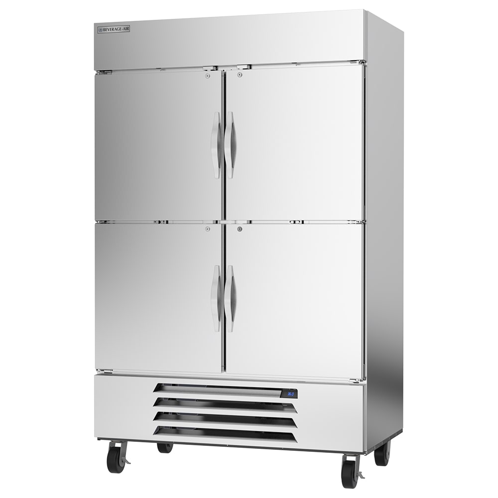"""Beverage Air HBR49HC-1-HS 52"""" Two Section Reach In Refrigerator, (4) Left/Right Hinge Solid Doors, 115v"""