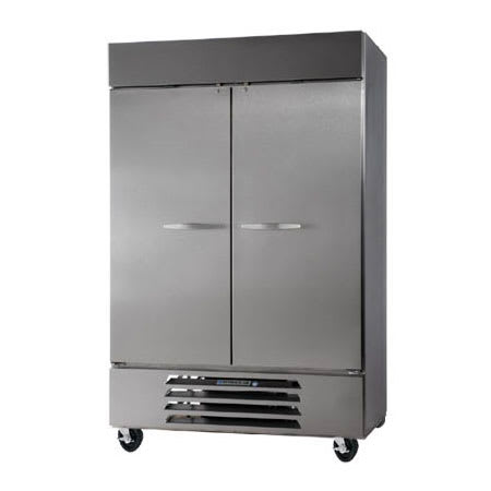 "Beverage Air HBRF49-1-A 52"" Two Section Commercial Refrigerator Freezer - Solid Doors, Bottom Compressor, 115v"