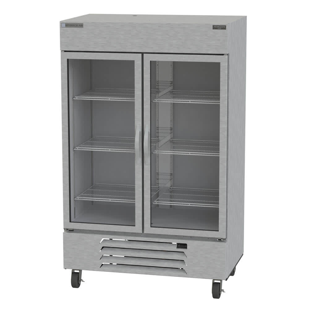 Beverage Air Hbrf49g 1 A 52 Two Section Commercial Refrigerator Freezer Glass Doors Bottom Compressor 115v
