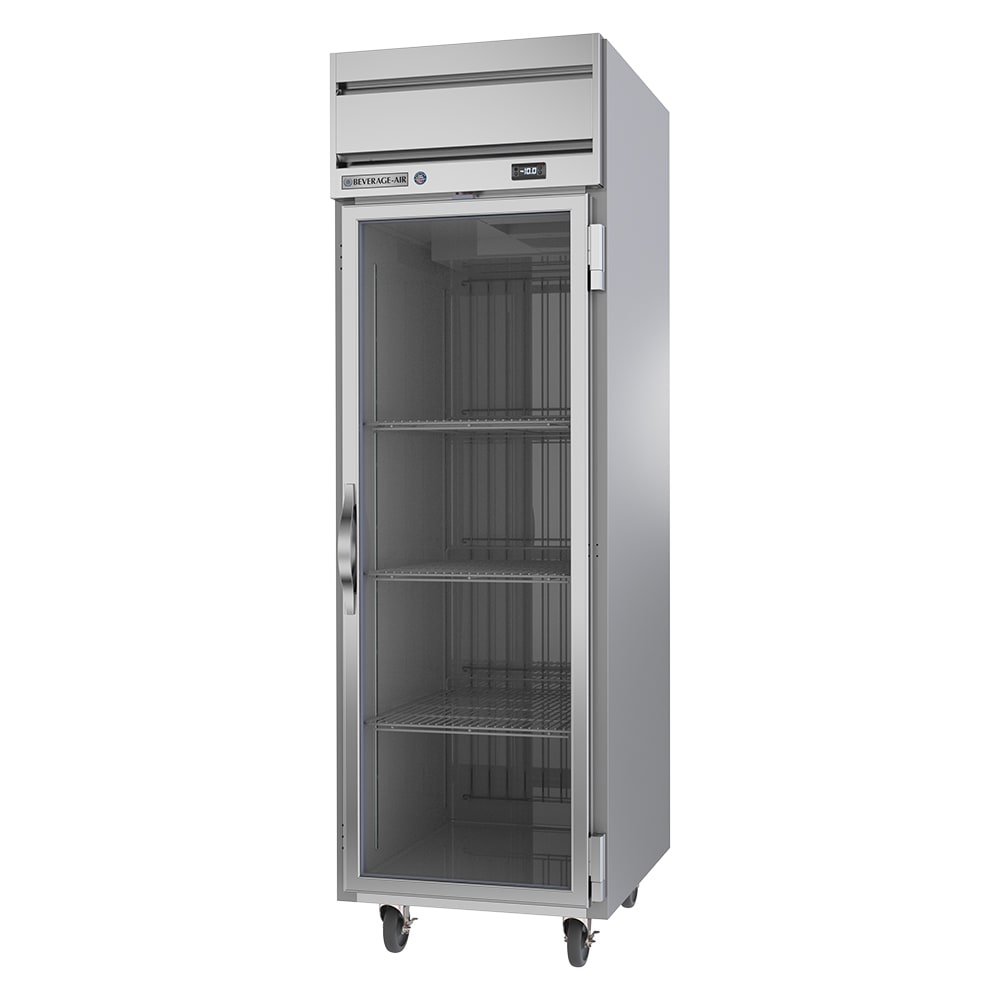 """Beverage Air HF1HC-1G 26"""" One Section Reach-In Freezer, (1) Glass Door, 115v"""