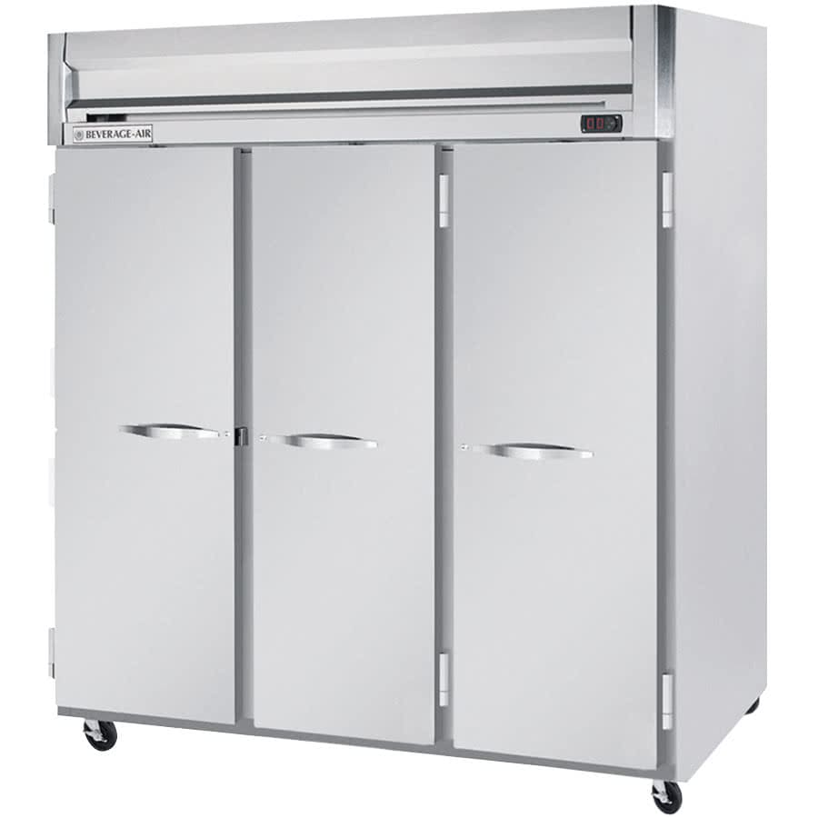 "Beverage Air HF3-5S 78"" Three Section Reach-In Freezer, (3) Solid Doors, 208-230v/1ph"