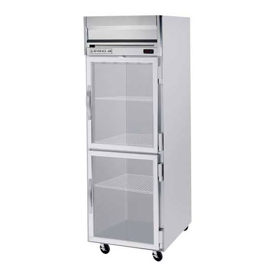 "Beverage Air HFP1-1HG 26"" One Section Reach-In Freezer, (2) Glass Doors, 115v"