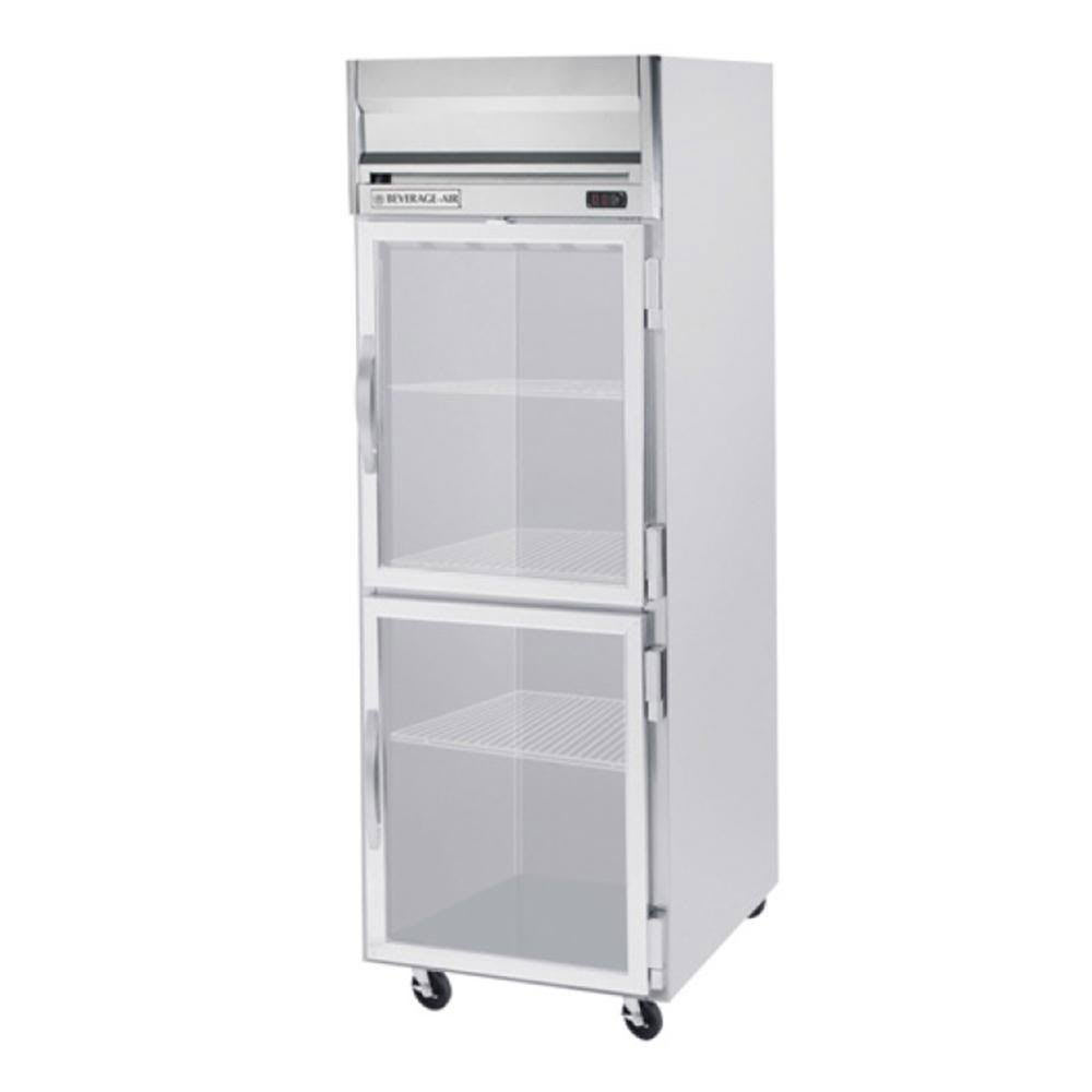 "Beverage Air HFPS1-1HG 26"" One Section Reach-In Freezer, (2) Glass Doors, 115v"