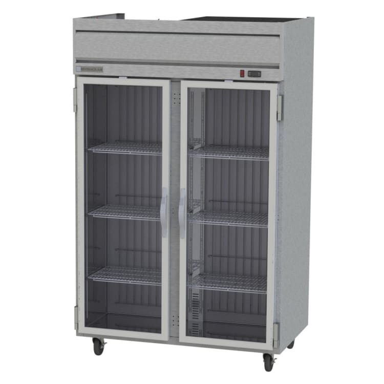 "Beverage Air HFPS2-1G 52"" Two Section Reach-In Freezer, (2) Glass Doors, 115v"