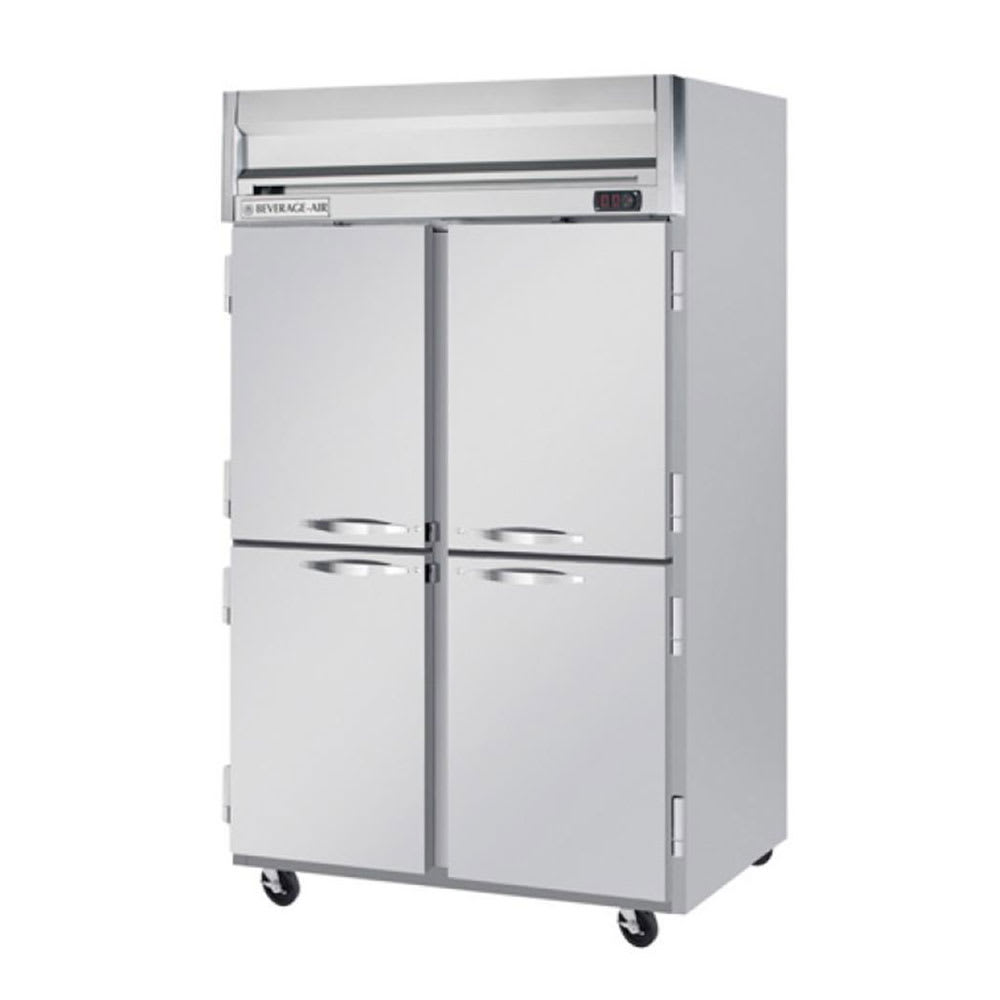"""Beverage Air HFPS2-1HS 52"""" Two Section Reach-In Freezer, (4) Solid Doors, 115v"""