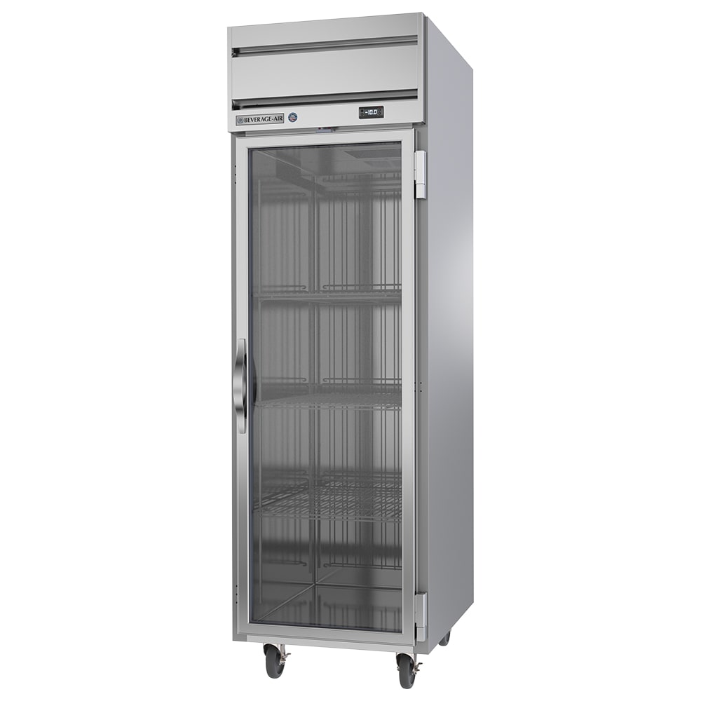 "Beverage Air HFS1HC-1G 26"" One Section Reach-In Freezer, (1) Glass Door, 115v"