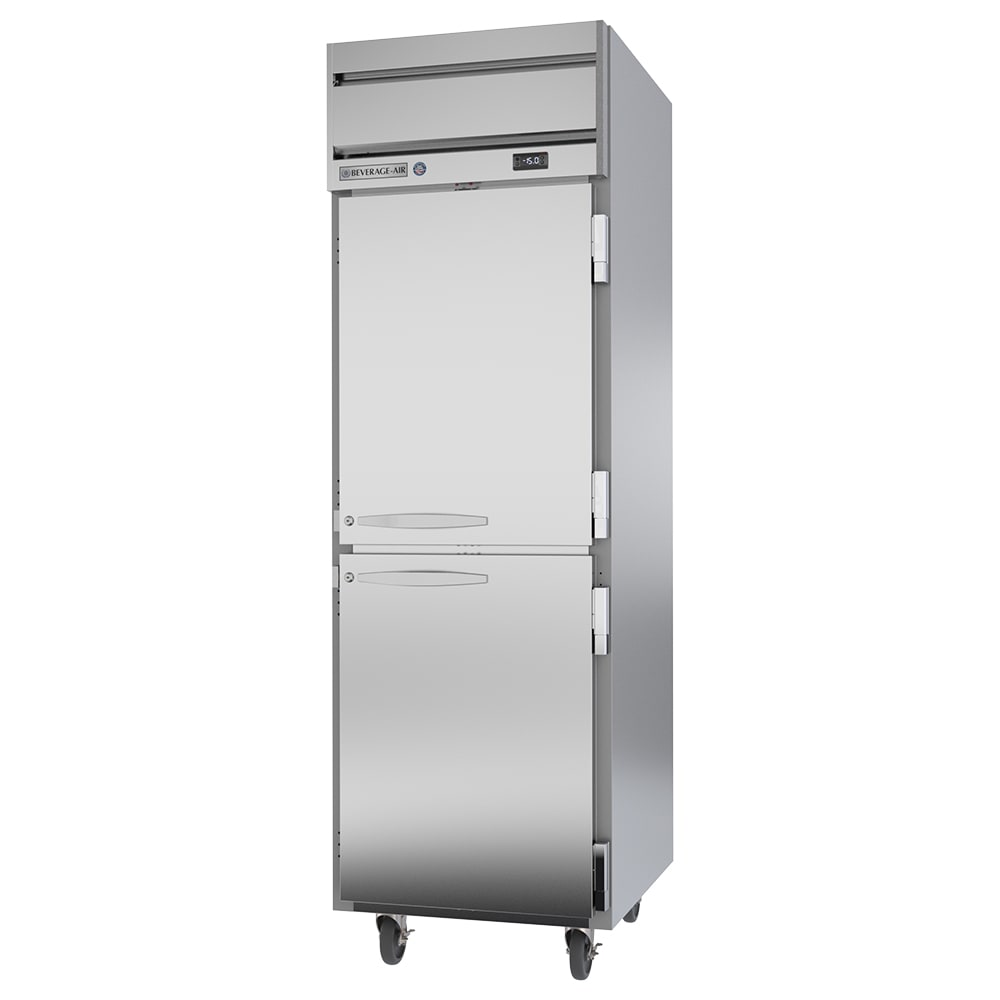 """Beverage Air HFS1HC-1HS 26"""" One Section Reach-In Freezer, (2) Solid Doors, 115v"""