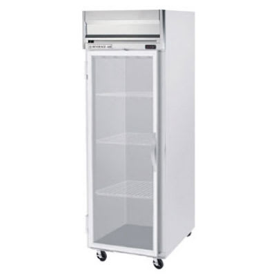 "Beverage Air HR1-1G 26"" Single Section Reach-In Refrigerator, (1) Glass Door, 115v"