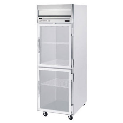 "Beverage Air HR1-1HG 26"" Single Section Reach-In Refrigerator, (2) Glass Door, 115v"