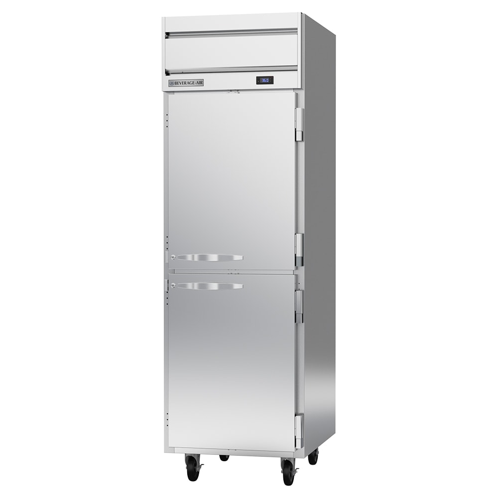 "Beverage Air HR1HC-1HS 26"" One Section Reach-In Refrigerator, (2) Solid Door, 115v"