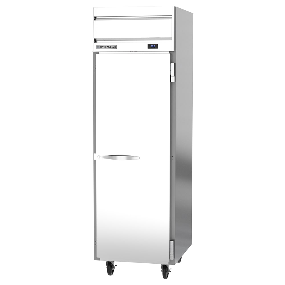 "Beverage Air HR1HC-1S 26"" Single Section Reach-In Refrigerator, (1) Solid Door, 115v"