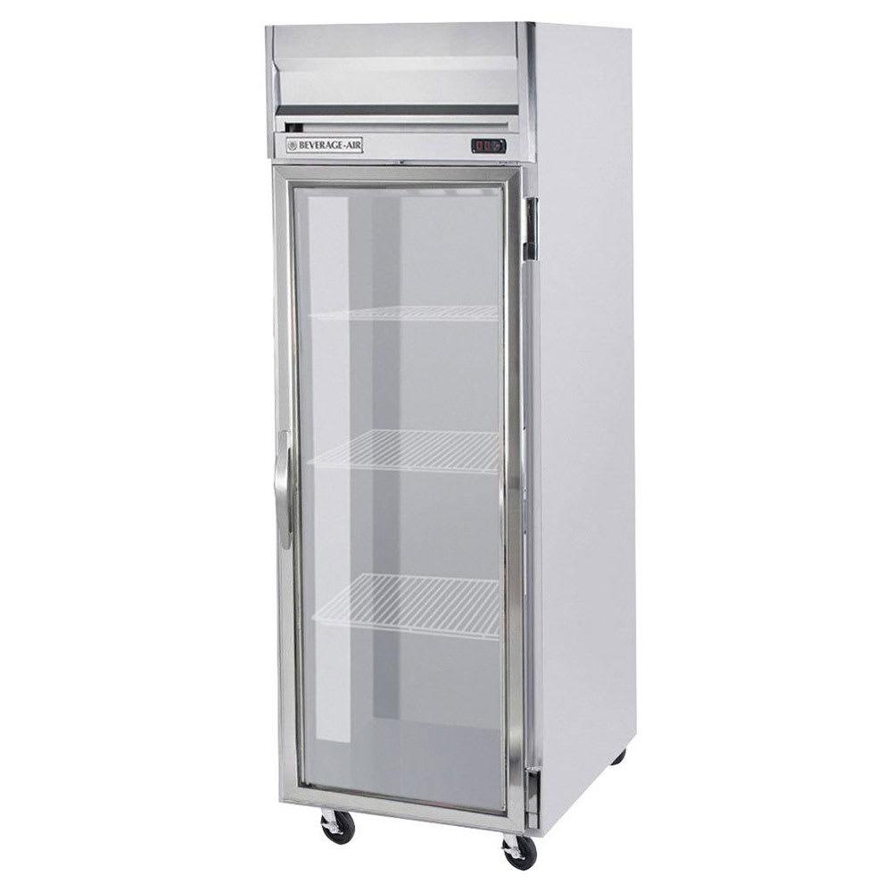 "Beverage Air HR1W-1G 35"" One Section Reach-In Refrigerator, (1) Glass Door, 115v"