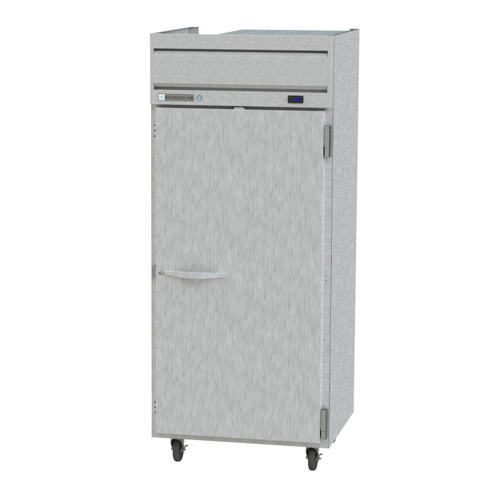 "Beverage Air HR1W-1S 35"" Single Section Reach-In Refrigerator, (1) Solid Door, 115v"
