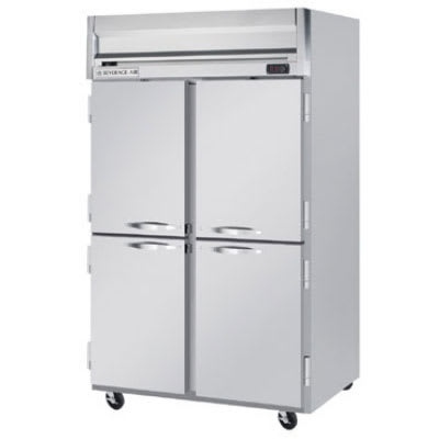 """Beverage Air HR2-1HS 52"""" Two Section Reach In Refrigerator, (4) Left/Right Hinge Solid Doors, 115v"""