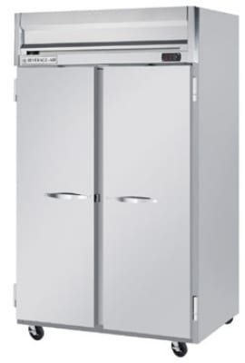 "Beverage Air HR21S 52"" Two Section Reach-In Refrigerator, (2) Solid Door, 115v"