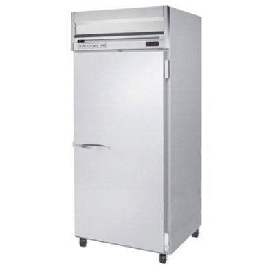 "Beverage Air HRP1W1S 35"" Single Section Reach-In Refrigerator, (1) Solid Door, 115v"