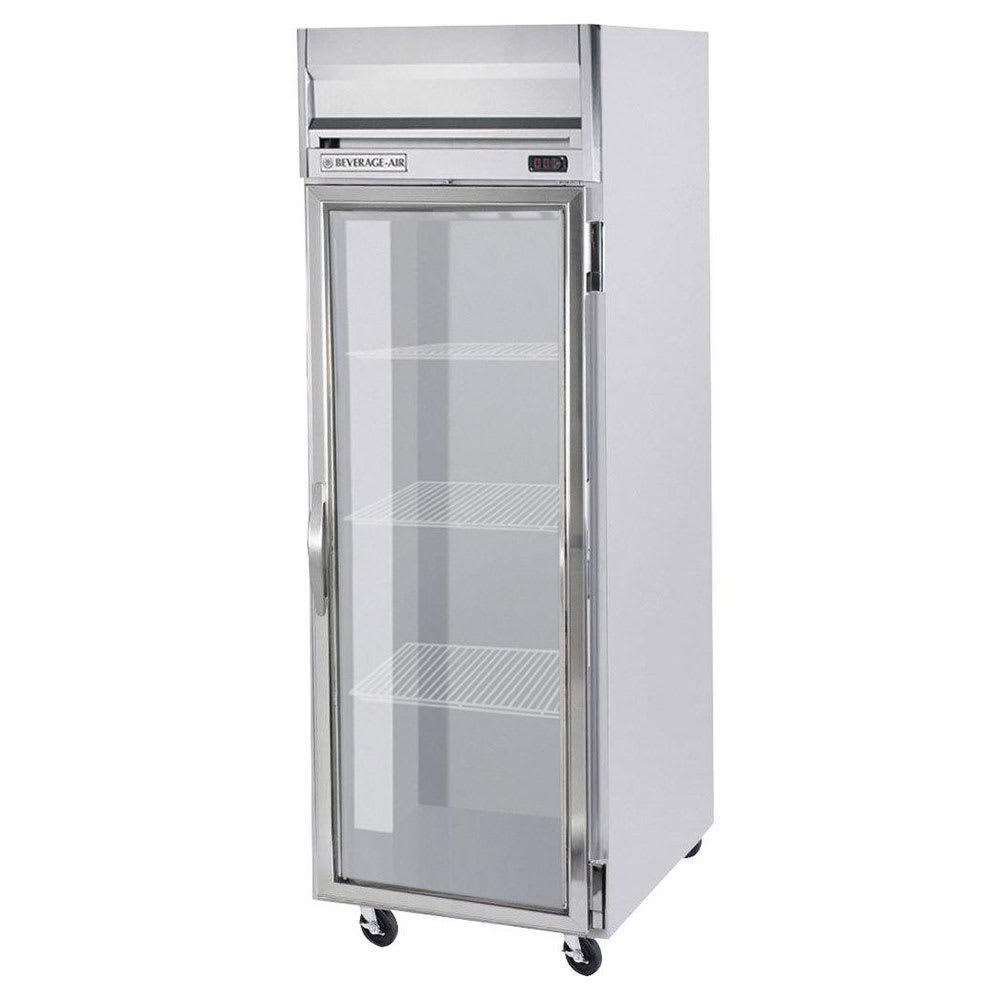 beverage air hrps1 1g 26 one section reach in refrigerator 1 glass door 115v - Refridgerator Glass Door