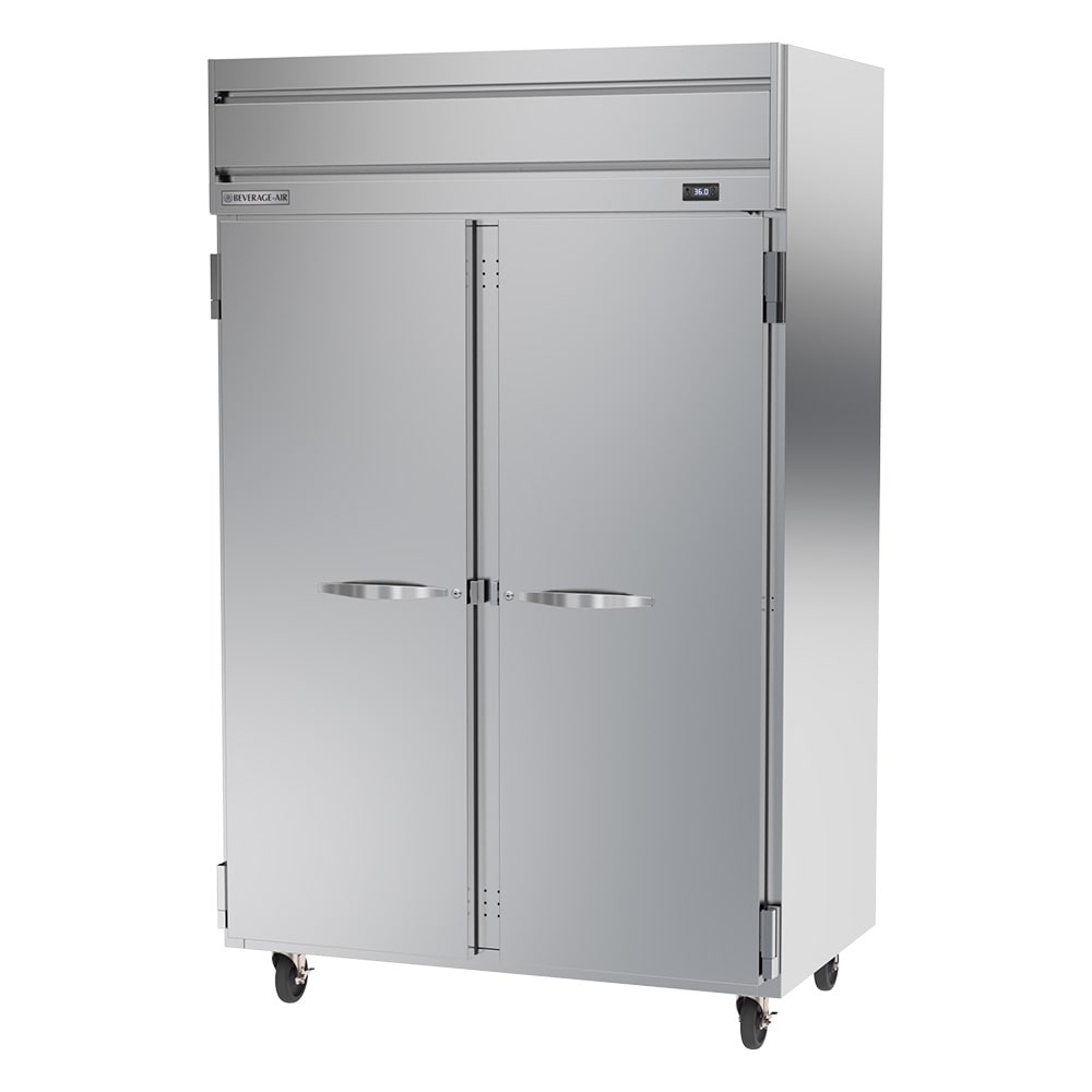 """Beverage Air HRPS2-1S 52"""" Two Section Reach-In Refrigerator, (2) Solid Doors, 115v"""