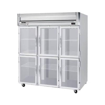 "Beverage Air HRPS3-1HG 78"" Three Section Reach-In Refrigerator, (6) Glass Door, 115v"