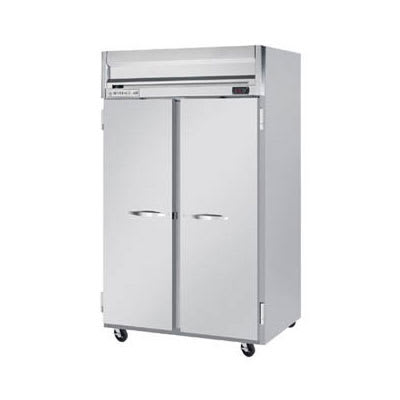 """Beverage Air HRS2-1S 52"""" Two Section Reach In Refrigerator, (2) Left/Right Hinge Solid Doors, 115v"""