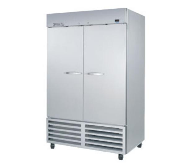 """Beverage Air KF48-1AS 54"""" Two Section Reach-In Freezer,(2) Solid Doors, 115v"""