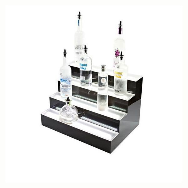 Beverage Air LBD2-36L 2-Tier Liquor Display w/ LED Lighting - (18) Bottle Capacity, Acrylic