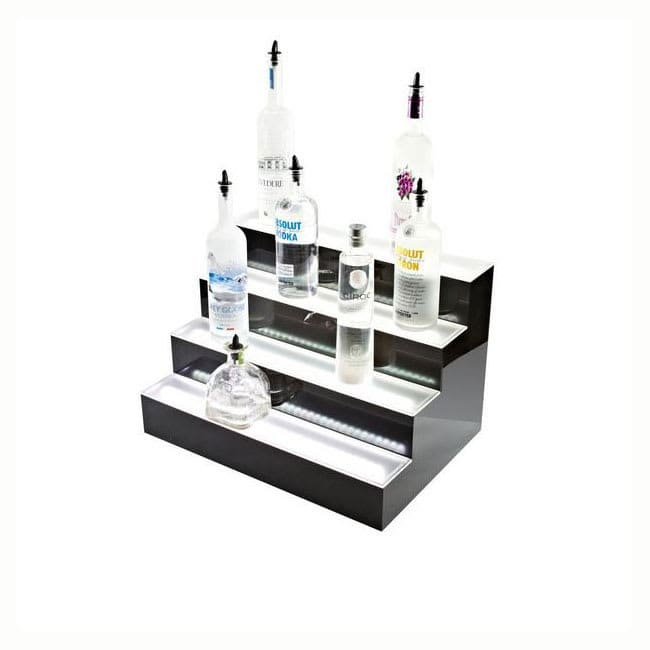Beverage Air LBD4-72L 4-Tier Liquor Display w/ LED Lighting - (72) Bottle Capacity, Acrylic
