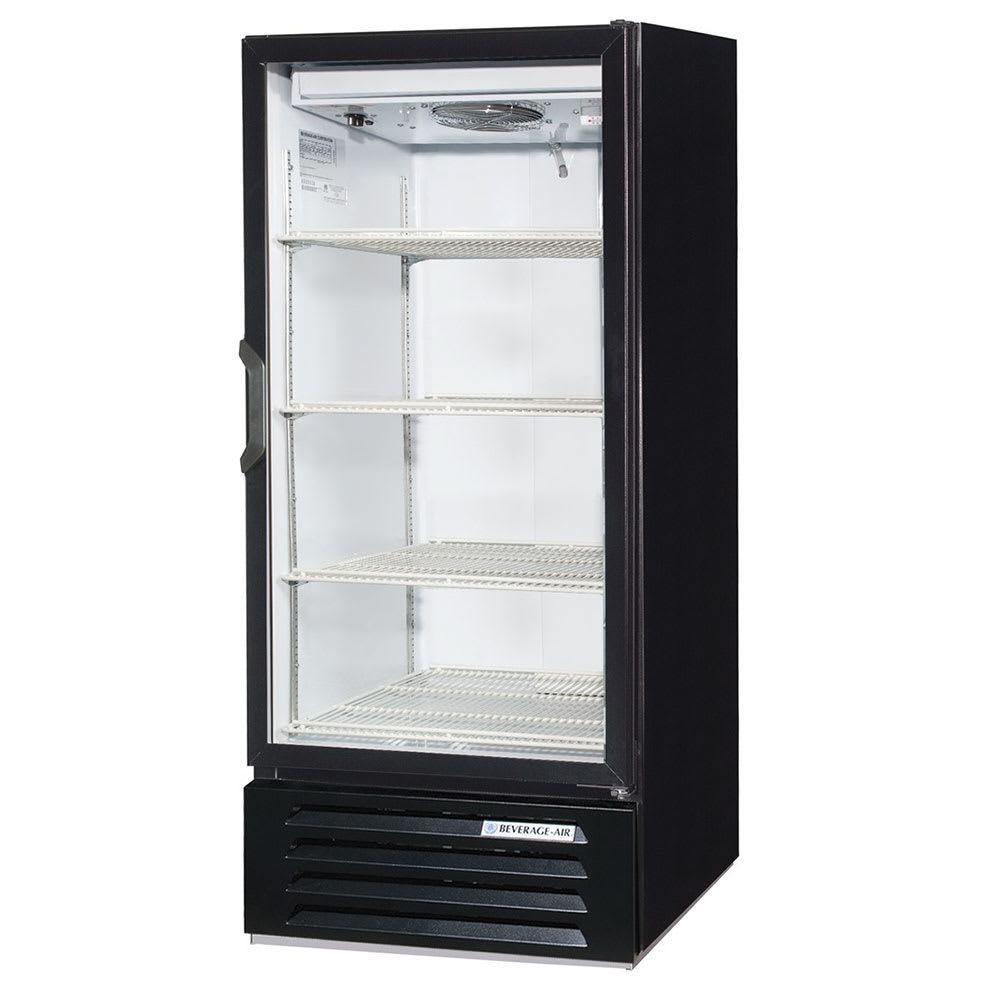 "Beverage Air LV10HC-1-B 24"" One-Section Glass Door Merchandiser w/ Swing Door, 115v"