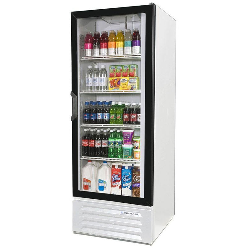 "Beverage Air LV12-1-W 24"" One-Section Glass Door Merchandiser w/ Swing Door, 115v"