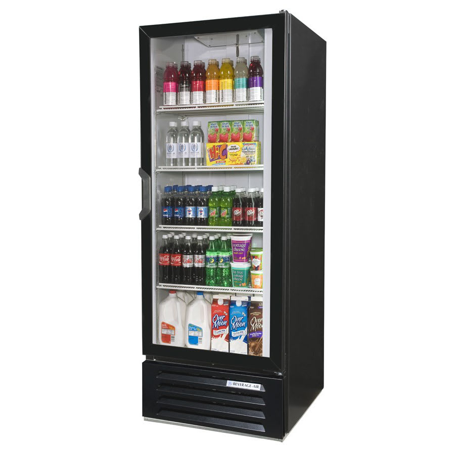 "Beverage Air LV12HC-1-B 24"" One-Section Glass Door Merchandiser w/ Swing Door, 115v"