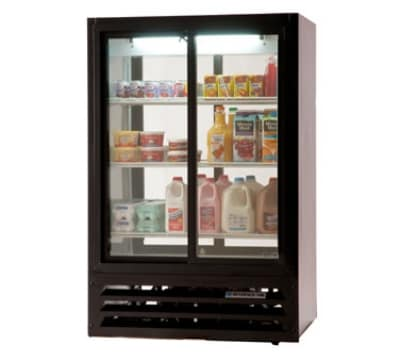 "Beverage Air LV15-1-B-54-HD-LED 36"" Two-Section Glass Door Merchandiser w/ Swing Doors, 115v"