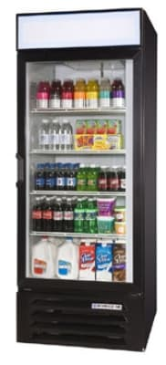 "Beverage Air LV23-1-B-LED 27"" One-Section Glass Door Merchandiser w/ Swing Door, 115v"