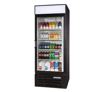 "Beverage Air LV27-1-B-LED 30"" One-Section Glass Door Merchandiser w/ Swing Door, 115v"