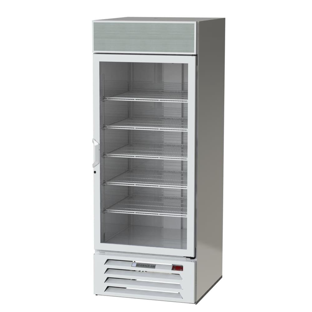 """Beverage Air LV27-1-W 30"""" One-Section Glass Door Merchandiser w/ Swing Door, 115v"""