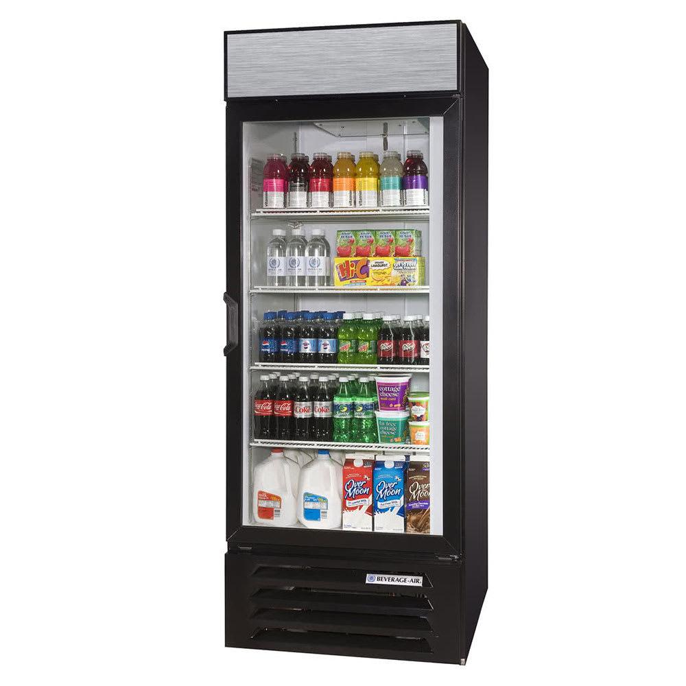 """Beverage Air LV27HC-1-B 30"""" One-Section Glass Door Merchandiser w/ Swing Door, 115v"""