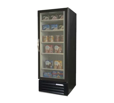 Beverage Air MMF12-1-B-LED 1-Section Reach-In Freezer Merchandiser - 12 cu-ft, Black
