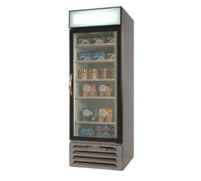 "Beverage Air MMF23-1-B-LED 27.25"" One-Section Display Freezer w/ Swinging Door - Bottom Mount Compressor, 115v"