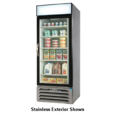 "Beverage Air MMF27-1-B-LED 30"" One-Section Display Freezer w/ Swinging Door - Bottom Mount Compressor, 115v"