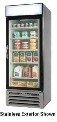 "Beverage Air MMF27-1-W-LED 30"" One-Section Display Freezer w/ Swinging Door - Bottom Mount Compressor, 115v"