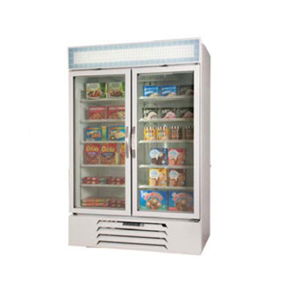 "Beverage Air MMF44-1-W 47"" Two-Section Glass Door Merchandiser w/ Swing Doors, 115v"